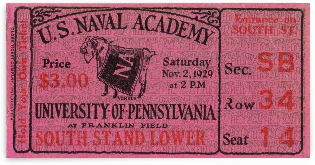 1929 Navy vs. Penn by Row One Brand
