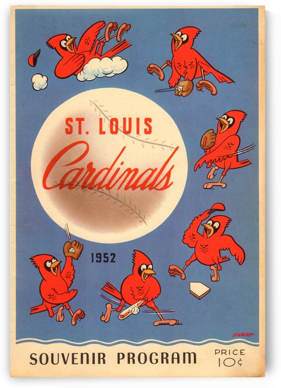 1952_Major League Baseball_St. Louis Cardinals_Baseball Program Art by Row One Brand