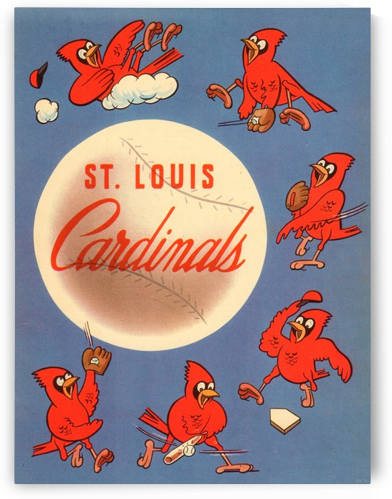 Vintage St. Louis Cardinals Metal Sign 1 by Row One Brand