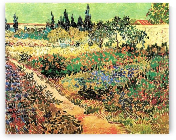 Flowering Garden with Path by Van Gogh by Van Gogh