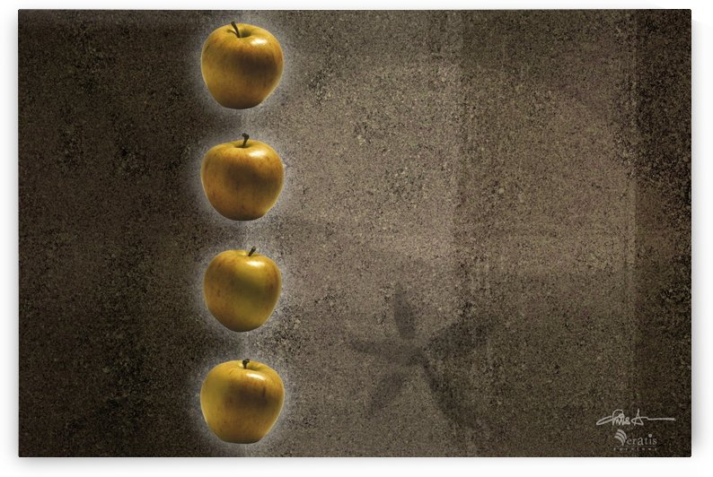 Amber Apples in a Column 3x2 by Veratis Editions