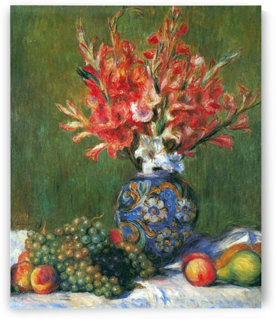 Flowers and Fruit by Renoir by Renoir