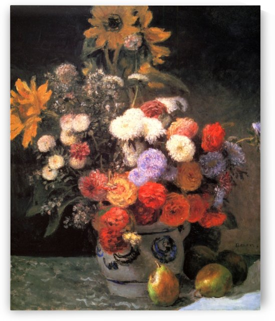 Flowers in a vase by