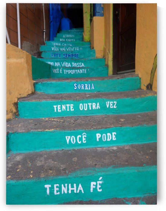 Hope Staircase in Brazilian Favela by Creative Endeavors - Steven Oscherwitz