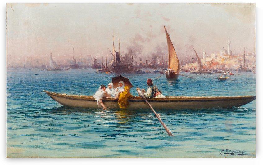 Amusement on the Caique by Fausto Zonaro