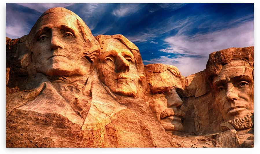 mount rushmore sculpture monument by Shamudy