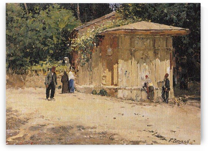 Street Scene by Fausto Zonaro
