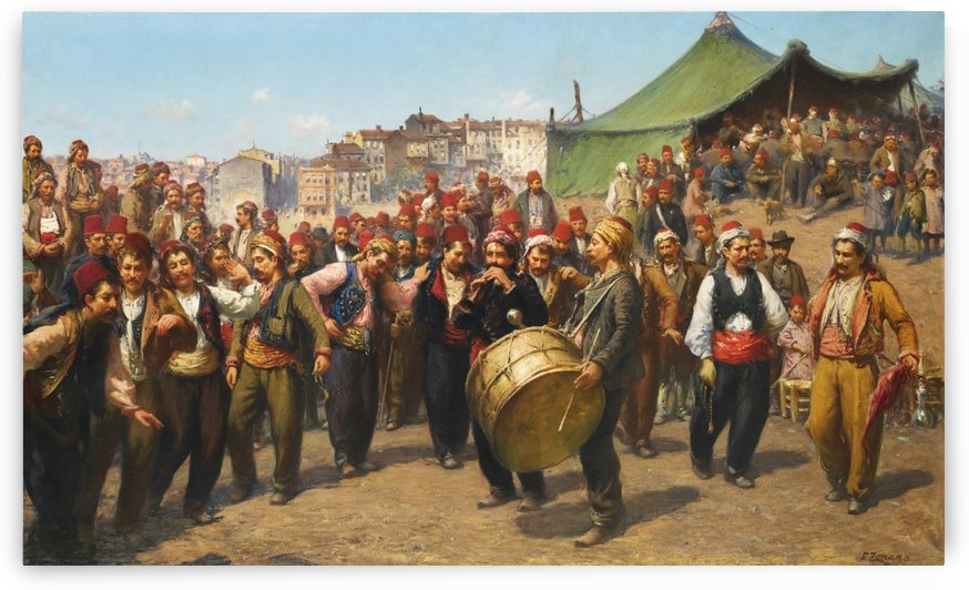 Bayram Celebration by Fausto Zonaro