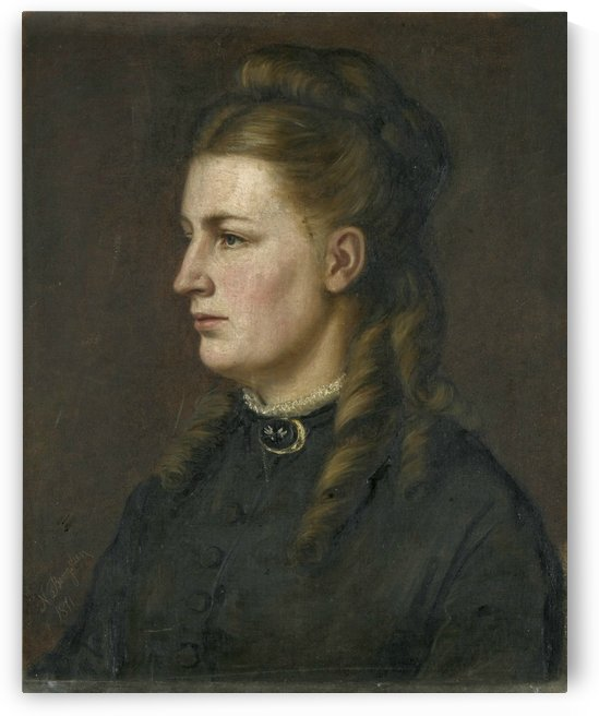Portrait of a young lady by Fausto Zonaro