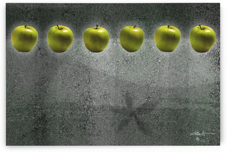 Green Apples in a Row 3x2 by Veratis Editions