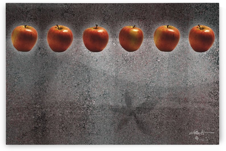 Red Apples in a Row 3x2 by Veratis Editions
