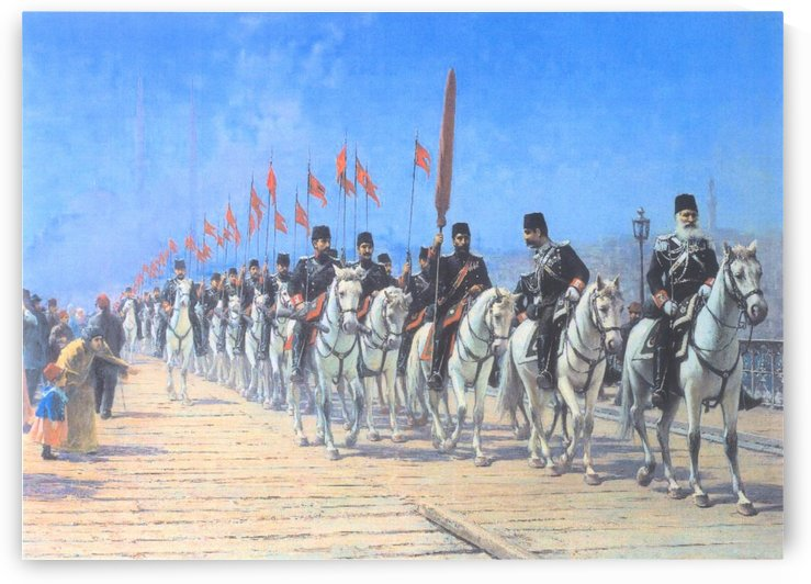 Turkish soldiers by Fausto Zonaro
