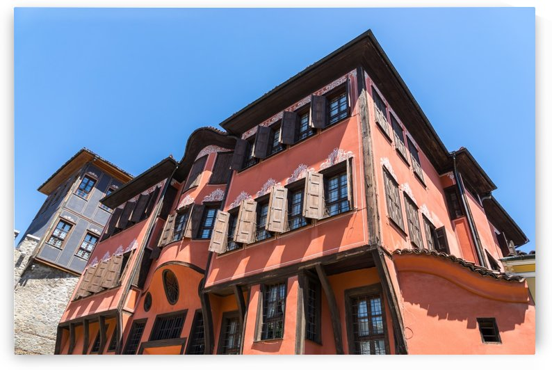 Old Town Plovdiv - A Hundred Windows Facade in Rich Orange by GeorgiaM