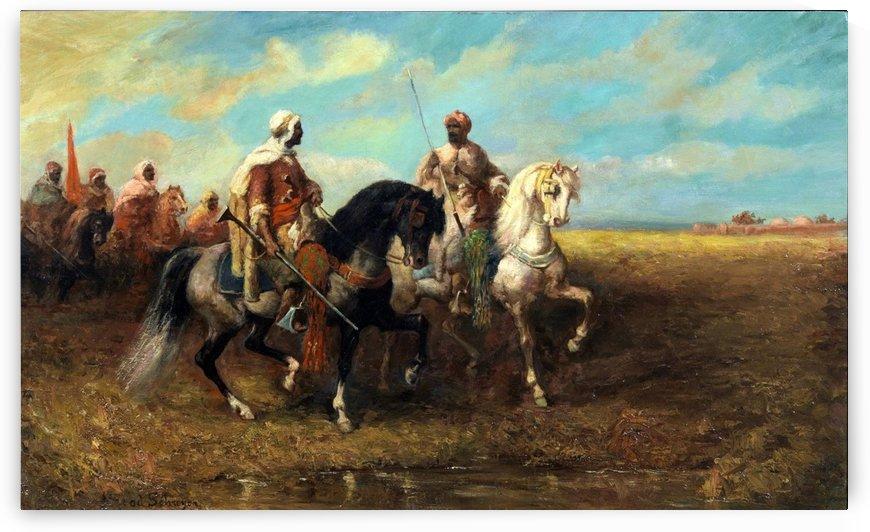 Arab Horsemen by Adolf Schreyer