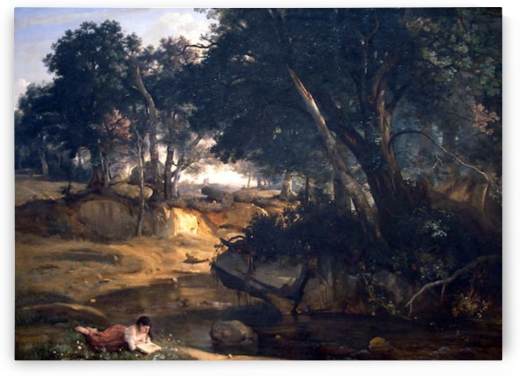 Forest of Fontainebleau by Corot by Corot