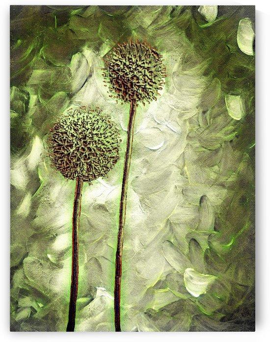 Globe Thistles by Leslie Montgomery