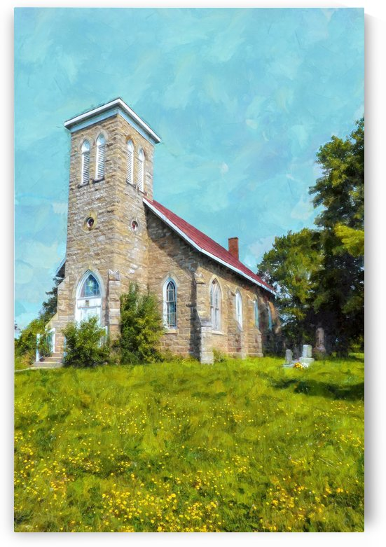Hilltop Country Church by Leslie Montgomery