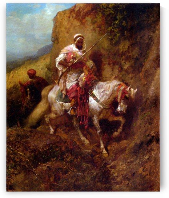 Arab warrior by Adolf Schreyer