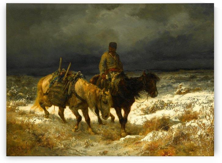 Horseman by Adolf Schreyer