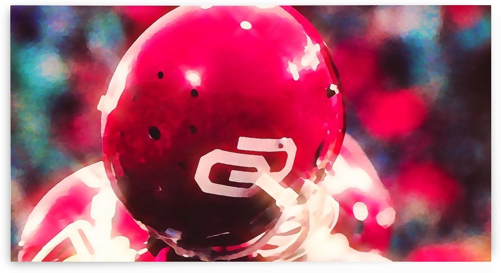 oklahoma football art ou sooners helmets by Row One Brand