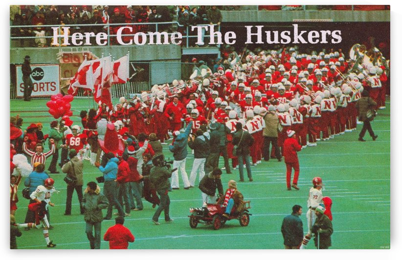 1978 nebraska cornhuskers oklahoma sooners college football poster by Row One Brand