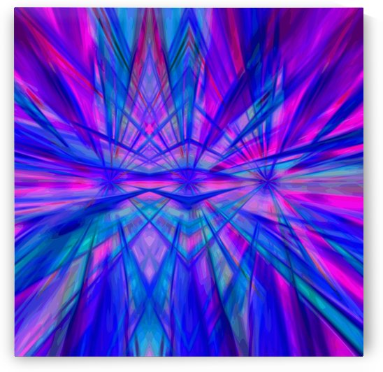 High Vitality - pink blue purple line abstract wall art by Jaycrave Designs
