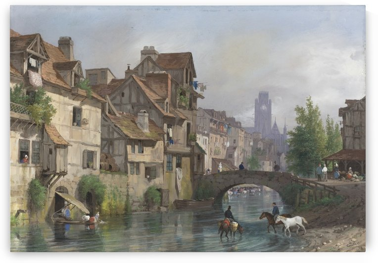 View of Rouen by Giuseppe Canella