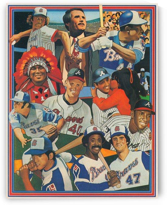 atlanta braves poster vintage baseball retro sports art reproduction by Row One Brand