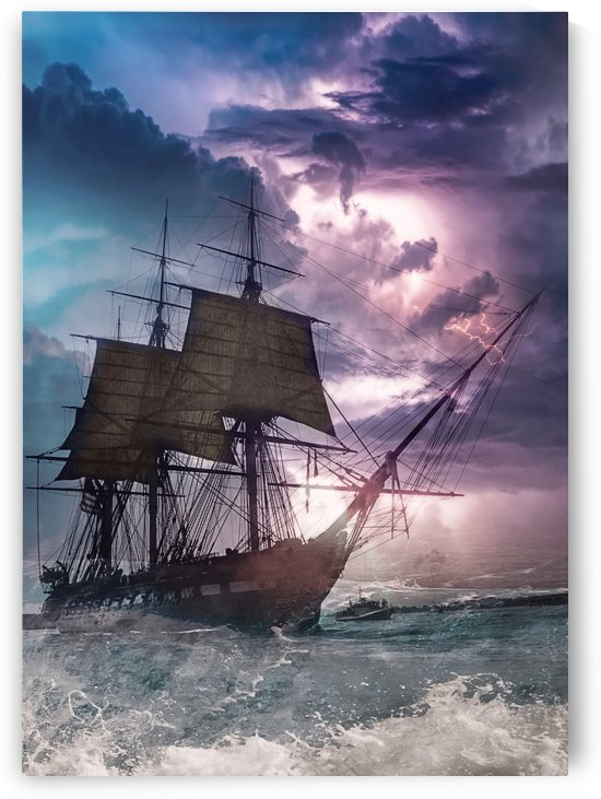Sail under Purple Thunder by Artistic Paradigms