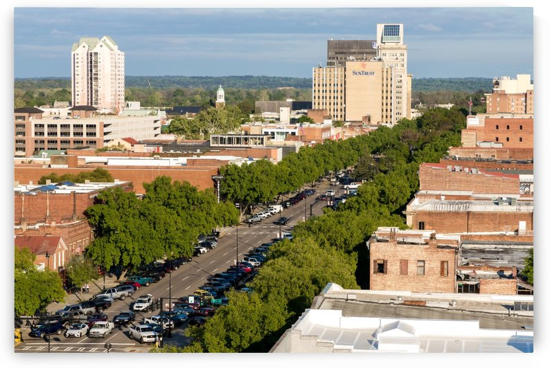 Broad Street Downtown Augusta GA Aerial View 8259 by @ThePhotourist