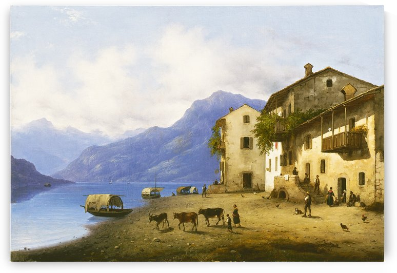 Landscape near Lake Como by Giuseppe Canella
