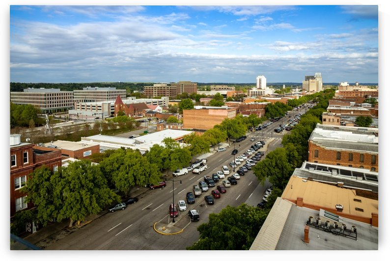 Broad Street Downtown Augusta GA Aerial View 7822 by @ThePhotourist