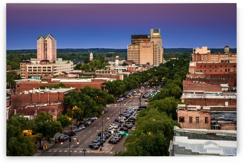 Broad Street Downtown Augusta GA Aerial View 6377 by @ThePhotourist