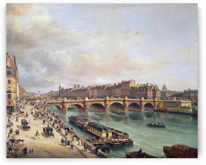 Le Pont-Neuf et la Cite Paris 1832 by Giuseppe Canella