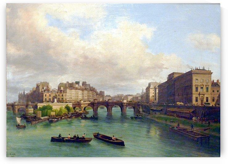 Le Pont-Neuf la Monnaie le quai de Conti by Giuseppe Canella