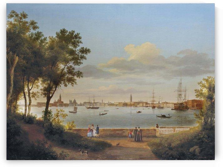 Vue de Venise depuis les Giardini by Giuseppe Canella