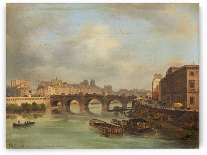 A View of the Pont-Neuf in Paris by Giuseppe Canella