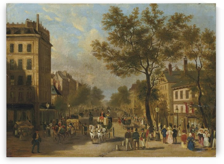 Le Boulevard Montmartre vers 1830 by Giuseppe Canella