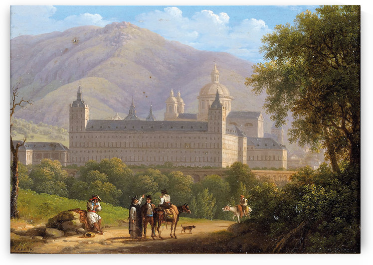 Le Chateau royal de l'Escurial by Giuseppe Canella