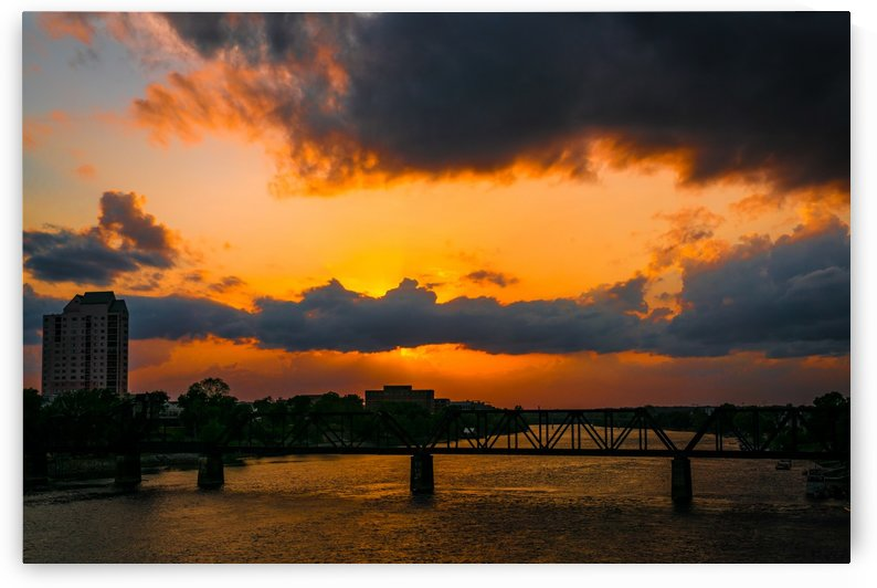 Sixth Street Bridge Sunset   Augusta GA 6717 by @ThePhotourist