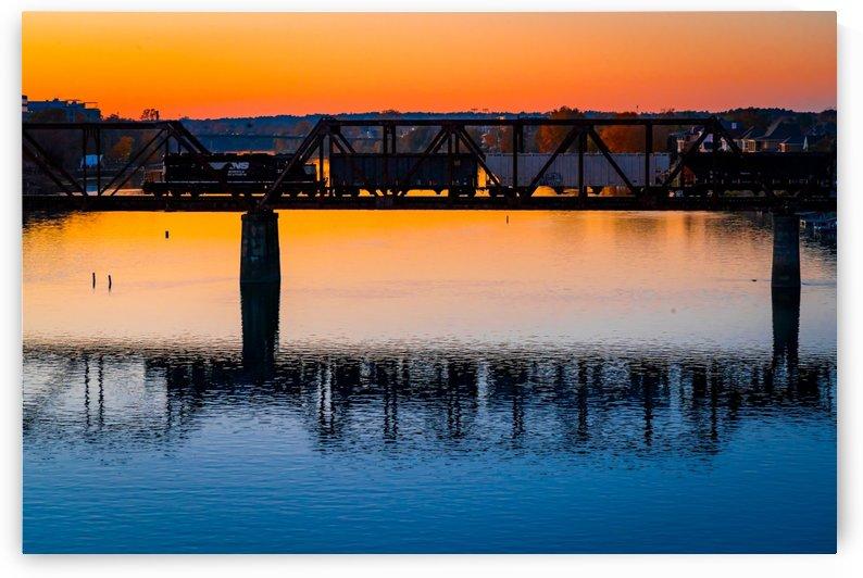 Sixth Street Bridge Sunset   Augusta GA 7450 by @ThePhotourist