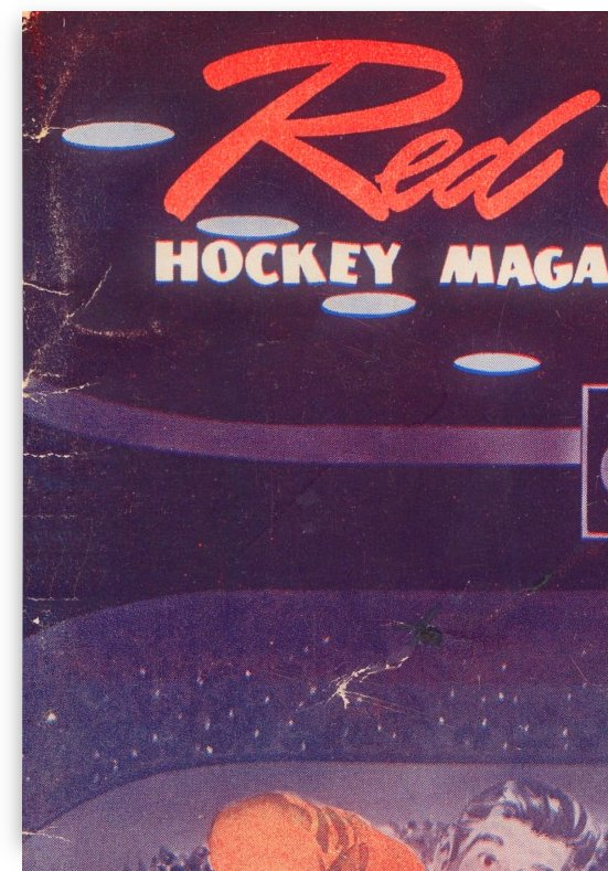 1954 detroit red wing hockey magazine art reproduction vintage hockey poster art by Row One Brand