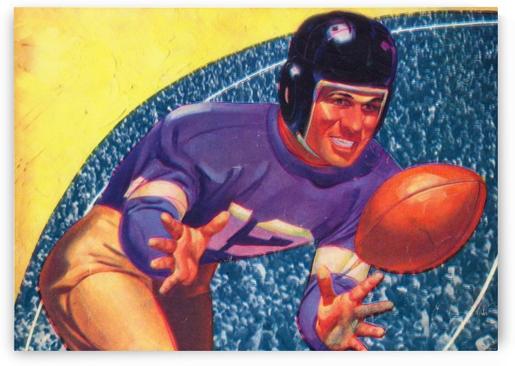 vintage football posters retro sports art print by Row One Brand