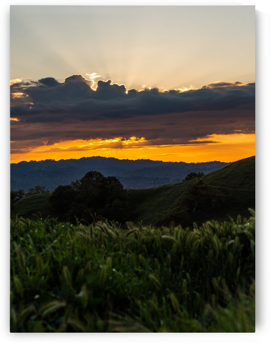Clouds and sunset in California by Raquel Creative