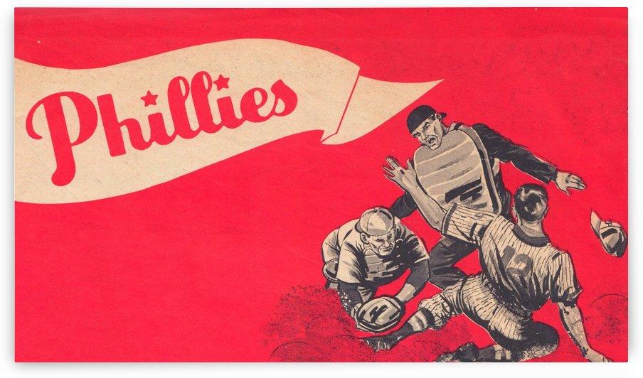 vintage philadelphia phillies poster art baseball print row one brand by Row One Brand
