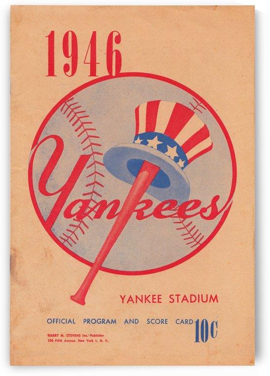 1946 New York Yankees Baseball Scorecard Art by Row One Brand