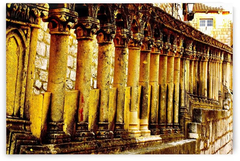 Ancient Stone Columns ... Dubrovnik Croatia by Fred J Bivetto