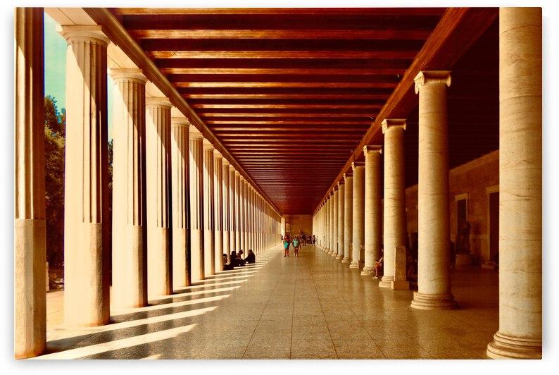 Stoa of Attilos ... Athens Greece by Fred J Bivetto