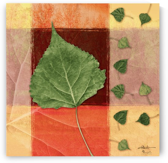 Leaves2 on Sienna & Salmon 1x1 by Veratis Editions