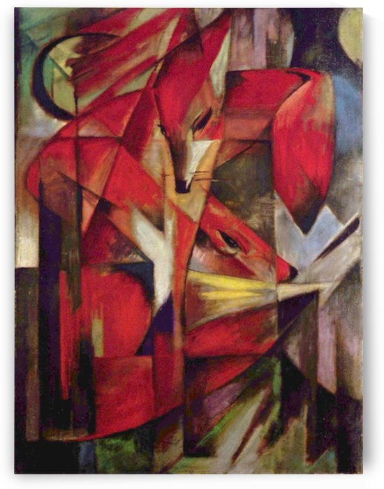 Foxes by Franz Marc by Franz Marc